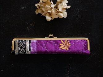 大人の婦人用扇子ケース/22cm/正絹帯の画像
