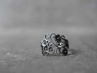 order OY様:arabesque and flowers ringの画像