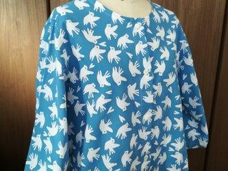 【手ぬぐいシャツ】レディースサイズ・はと柄の画像