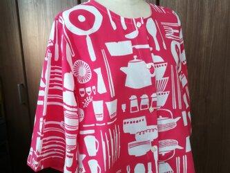 【手ぬぐいシャツ】レディースサイズ・キッチン柄の画像