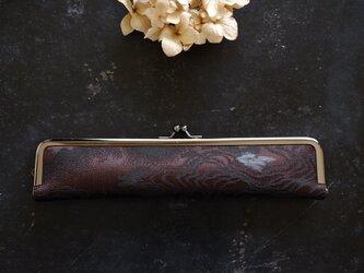大人の婦人用扇子ケース/22cm/アンティーク正絹帯の画像
