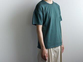 dual-layered fabric tshirt/greenの画像