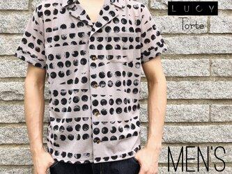 《Men's》オープンカラーシャツ【GRAY MOON】の画像