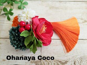 花yurari キュートな薔薇の髪飾り クリップピンタイプ No584の画像