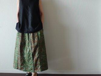 大人の切り替えスカート 綾織り綿麻(スカート丈オーダー可)の画像