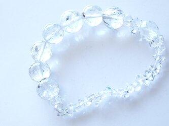 エレスチャルクォーツ ハーキマーダイヤモンド ブレスレットの画像