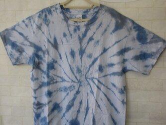 タイダイ染め さわやか~♪なブルーのタイダイ染めTシャツの画像