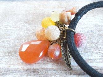 ヘアゴム オレンジベリーの雫の画像
