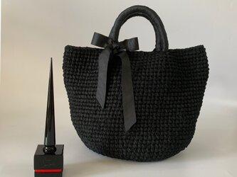 裂き編みバッグ マルシェバッグ Lサイズの画像