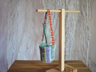 手織り ドリンクホルダーの画像