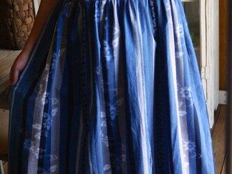 久留米絣反物からフレンチワンピースの画像