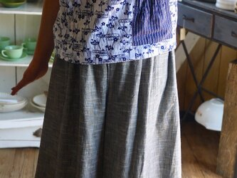 久留米絣と紬からパンツスカートの画像