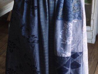 久留米絣反物からパッチスカートの画像