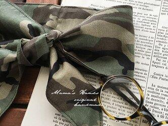 保冷剤 薄手 カーキ 迷彩柄 綿100% 節約 快適 エコ 夏 スカーフ ネッククーラーの画像