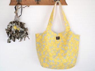まあるいショルダーバッグ「朝つゆ」黄色の画像