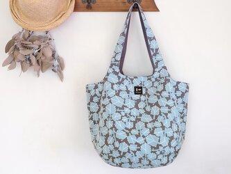 まあるいショルダーバッグ「朝つゆ」水色の画像