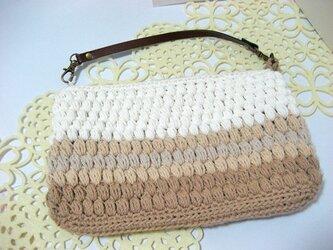 玉編みのファスナーポーチ <Lサイズ>の画像
