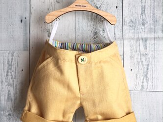 ダッフィーサイズのお洋服 カラーデニムパンツの画像