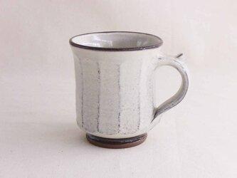 白い面取りマグカップ(透明)の画像