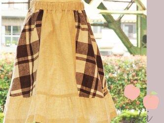 チェック切り替えスカートの画像