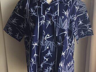 浴衣シャツ(メンズ向け・Lサイズ)竹柄の画像