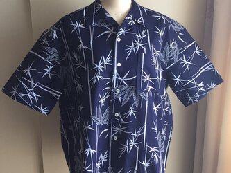 2L〜3L・浴衣シャツ(メンズ向け)竹柄の画像