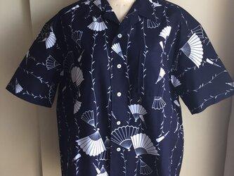 2L〜3L・浴衣シャツ(メンズ向け)番傘柄の画像