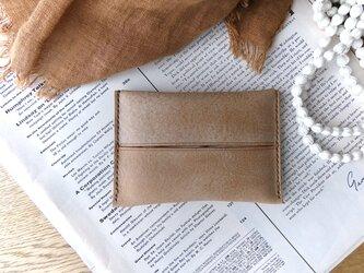 イタリア革のポケットティッシュケース/キャメルの画像