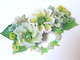 バレッタ Bouquet  (ミントアネモネ)の画像