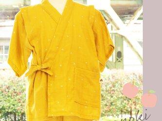星柄☆涼しい夏 甚平セット(黄色)の画像