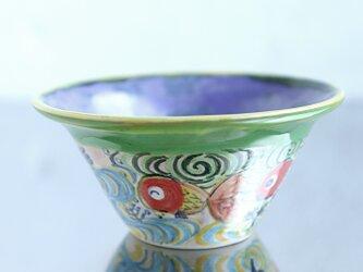 金魚と流水模様の鉢(ラベンダー)の画像