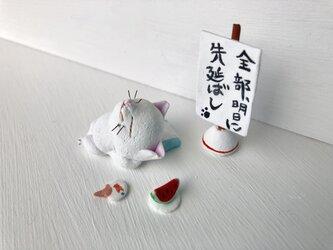 先延ばし猫さん(白)の画像