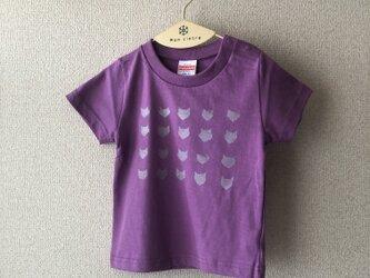 キッズTシャツ シルクスクリーン cat(シルバー) 90の画像