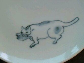 染付5寸猫皿4の画像