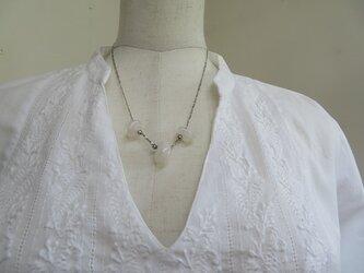 ローズクオーツの可愛いネックレス(送料無料)の画像