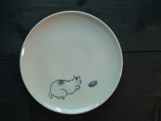 染付5寸猫皿5の画像