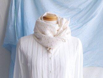 日除け&冷房対策Organic Cotton コンパクトマフラー【ラッセルレース】の画像