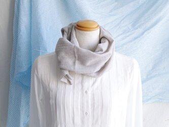 日除け&冷房対策Organic Cotton コンパクトマフラー【ヤクビエラ】の画像