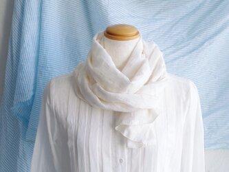 日除け&冷房対策Organic Cotton コンパクトマフラー【シャドーチェック】の画像
