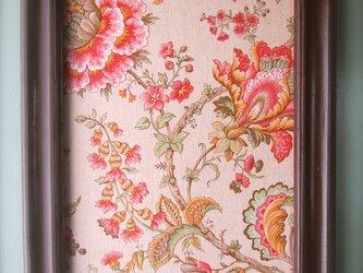 ヴィンテージ花柄 額装パネル 大の画像