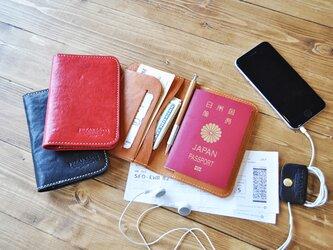【ショートタイプ】本革パスポートホルダー/栃木レザー3色展開の画像