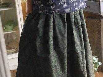 大島紬からギャザースカートの画像