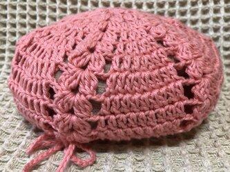 ☘️クローバー柄のベレー帽*(ピンク)*キッズ・大人の画像