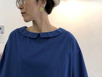 襟つきオーバーチュニック   Blueの画像