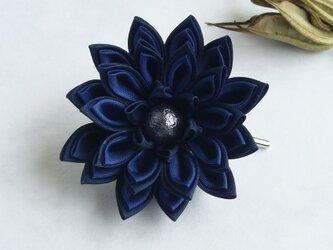 <再販>つまみ細工 お花のポニーフック 青[送料無料]の画像