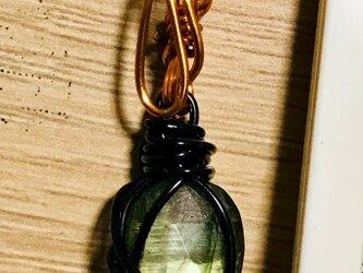 天然石【ラブラドライトとワイヤーのペンダント(ネックレス)トップ】の画像