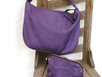 麻帆布のショルダーバッグの画像