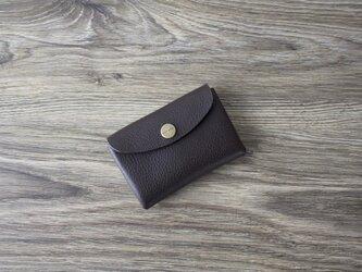 イタリア製牛革のミニ財布 / チョコ の画像