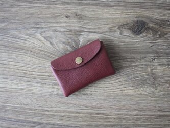 イタリア製牛革のミニ財布 / ワインの画像