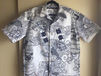 浴衣シャツ(メンズ向け・Lサイズ)雲・龍・栃東の画像